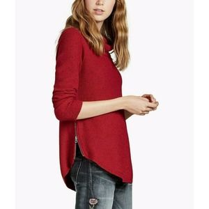 Lucky Brand Red Turtleneck Sweater Round Hem S